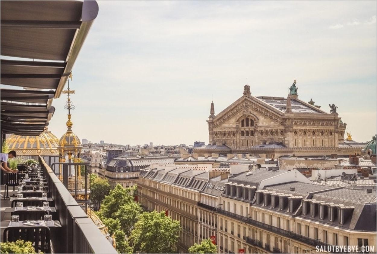 L'Opéra Garnier vu depuis le Printemps Haussmann