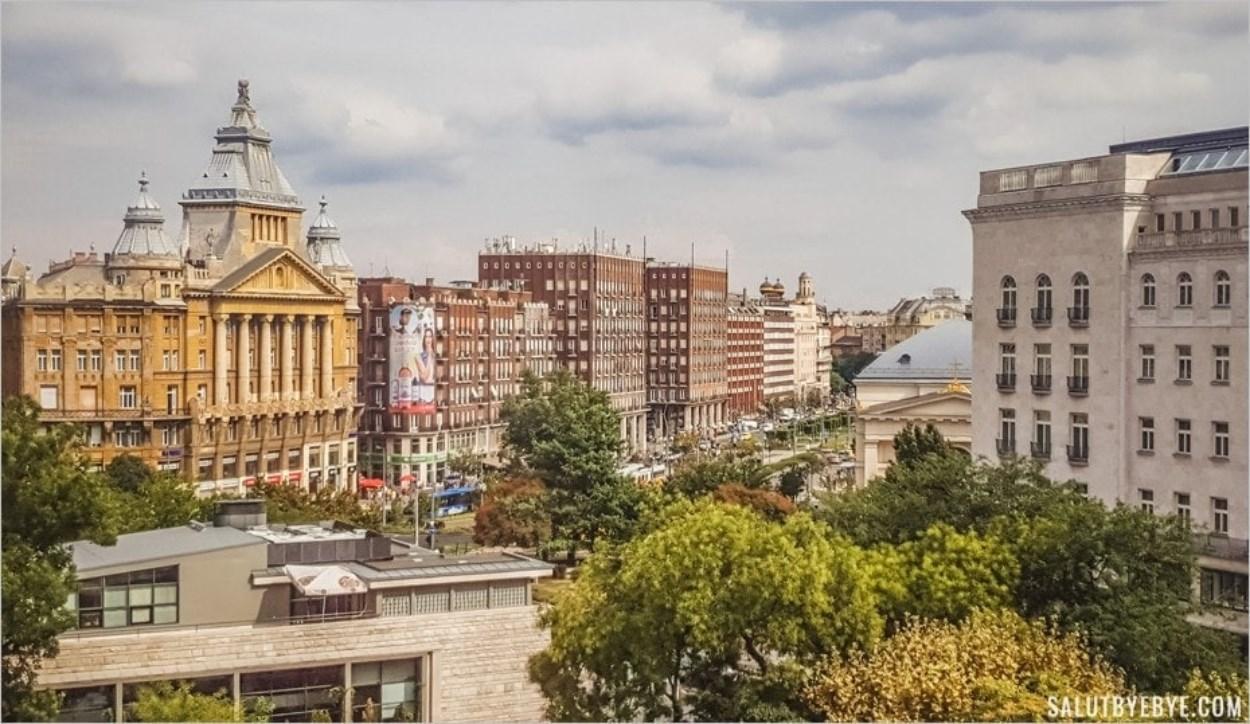 Vue depuis la grande roue de Budapest