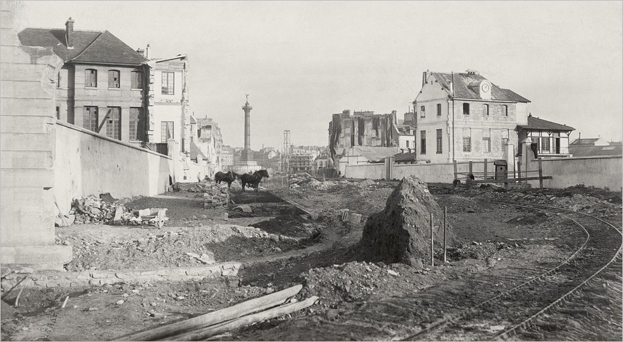 La création du boulevard Henri IV