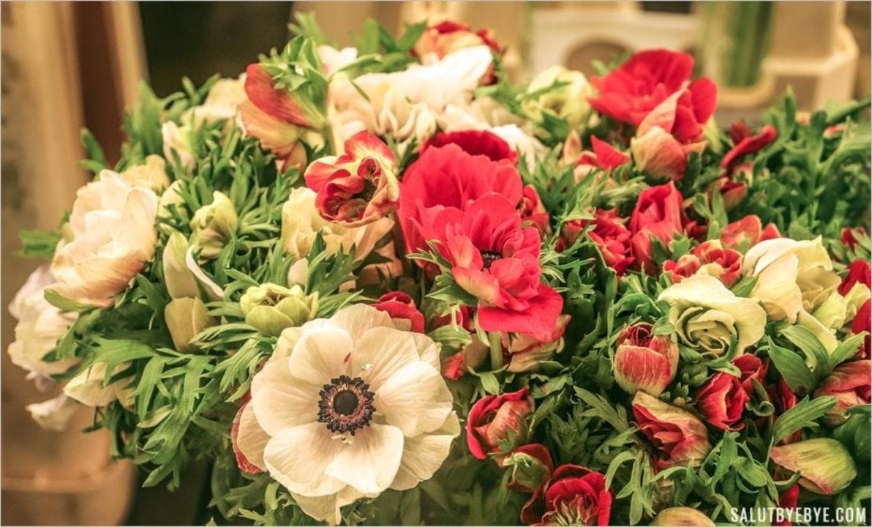 Bouquet de fleurs à Rungis