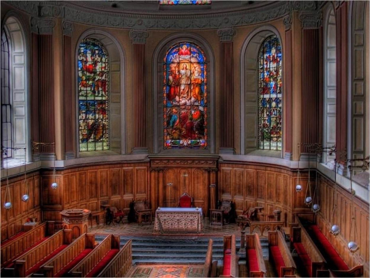Intérieur de la chapelle du Trinity College