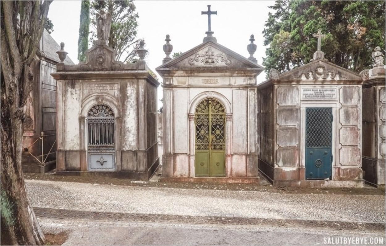 Le cimetière des Plaisirs à Lisbonne au Portugal