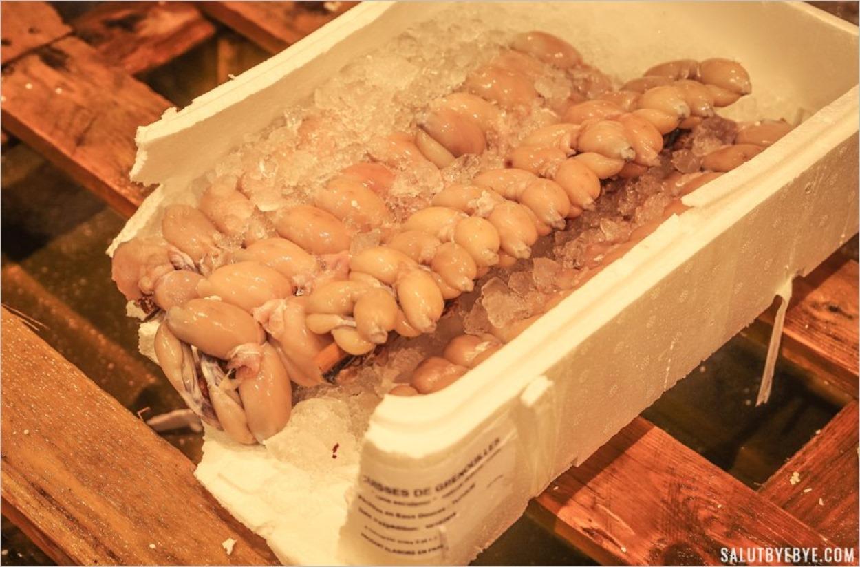 Cuisses de grenouille au marché de Rungis