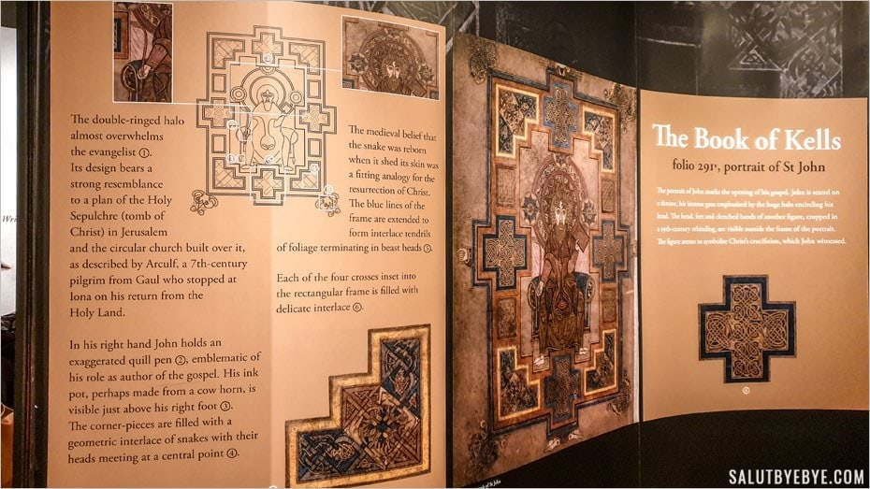 Exposition du Livre de Kells à Dublin