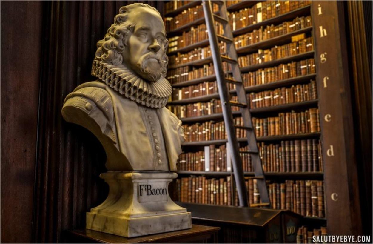 Francis Bacon dans la Long Room à Dublin