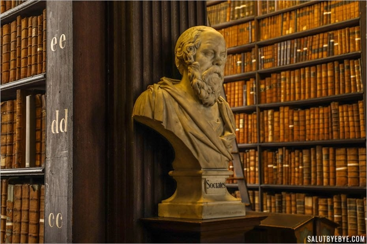 Socrate dans la Long Room du Trinity College