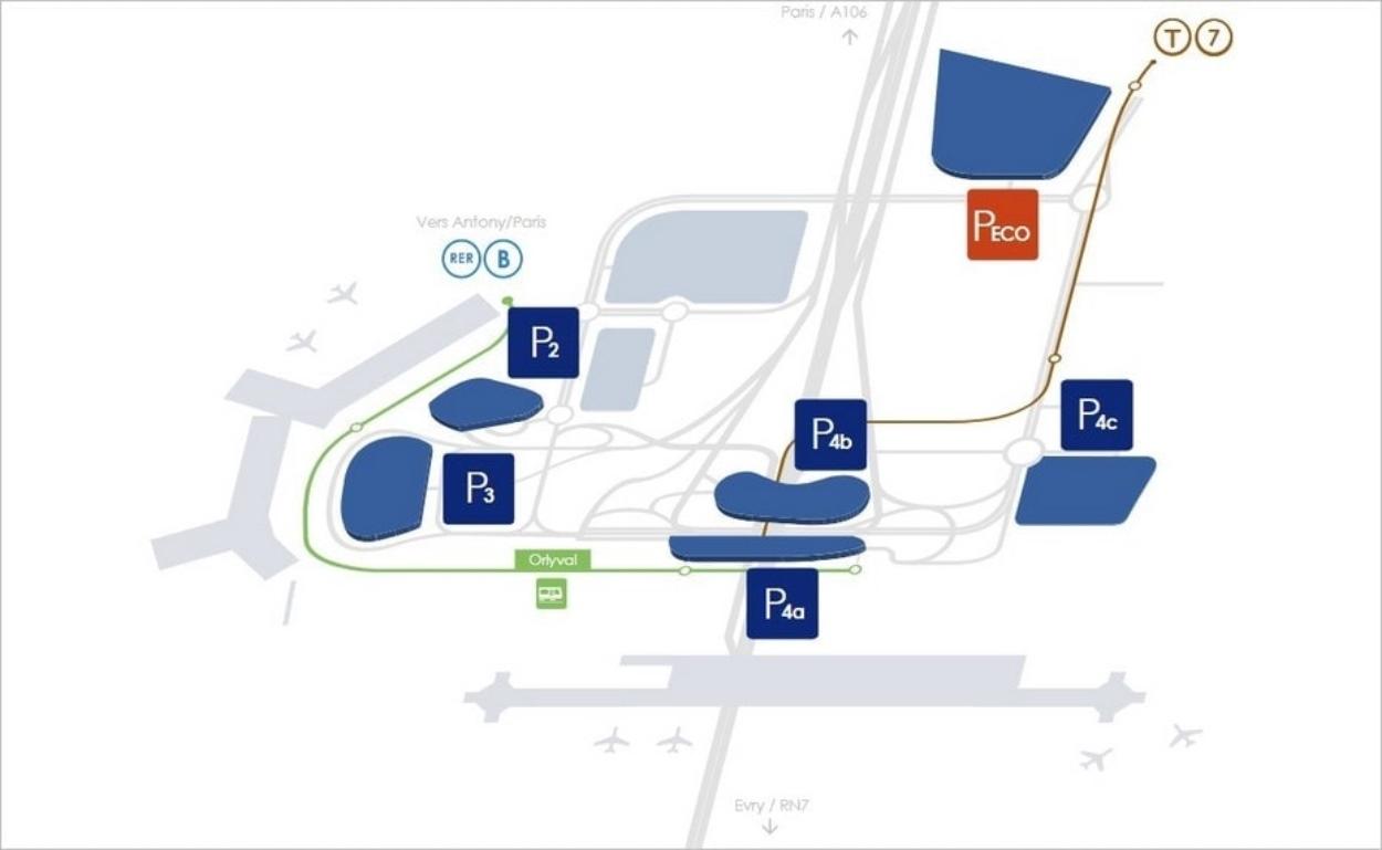 Parkings de l'aéroport d'Orly