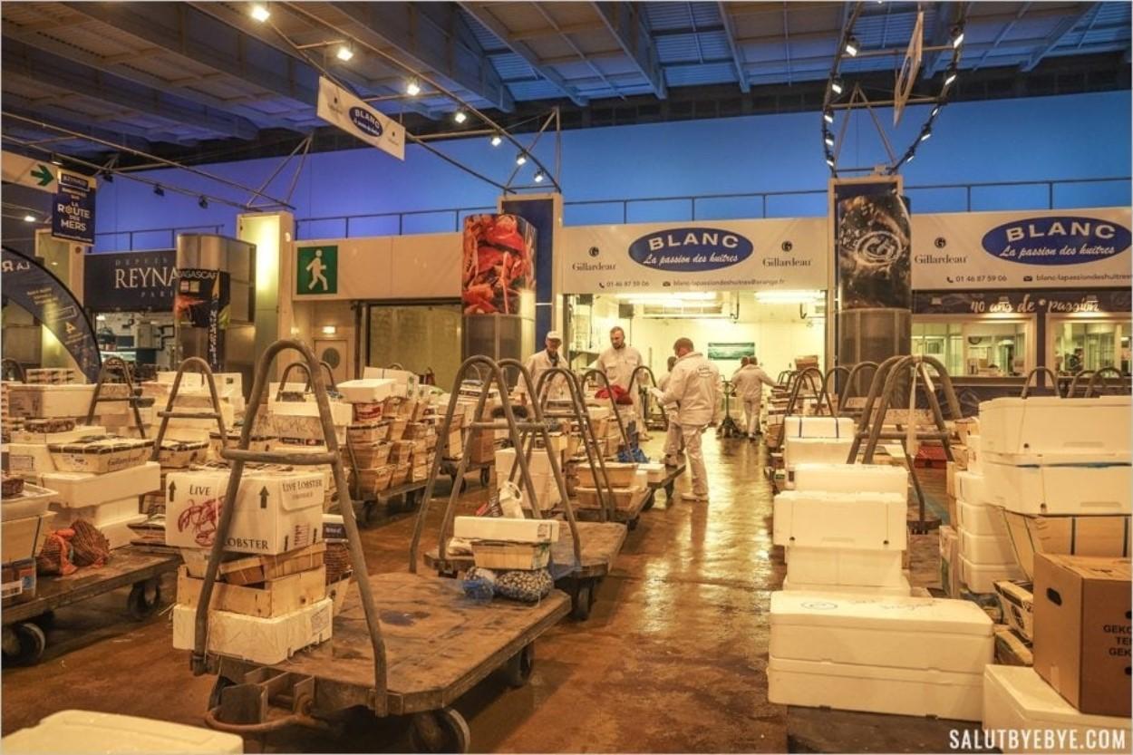 Visite du marché de Rungis : le pavillon de la Marée