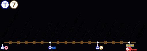 Plan de la ligne 7 du tramway