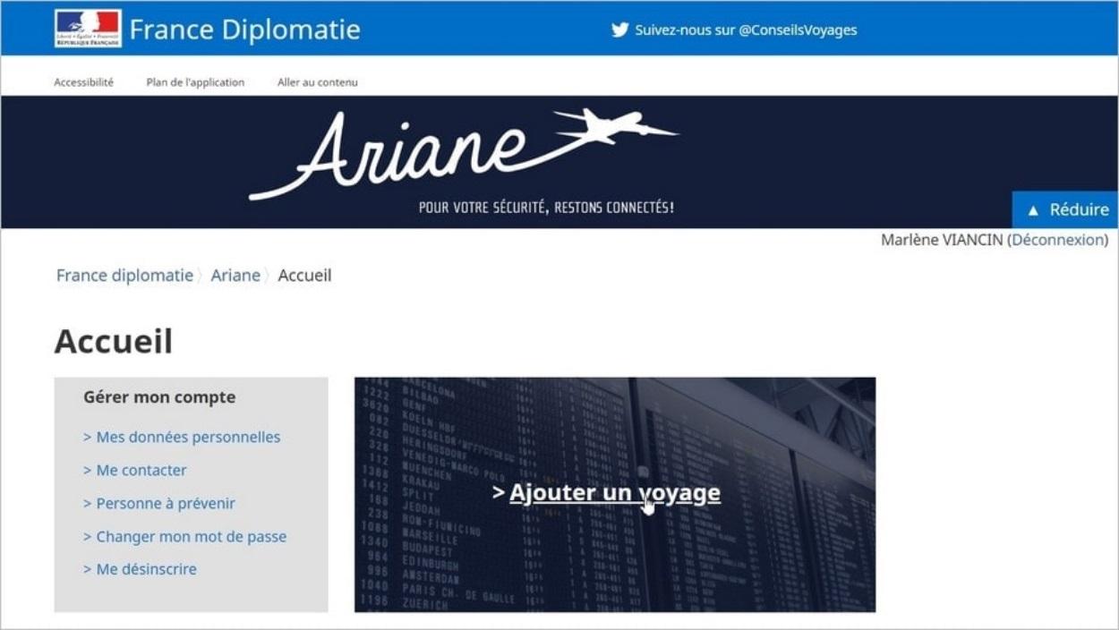 Le site Ariane pour se signaler au ministère