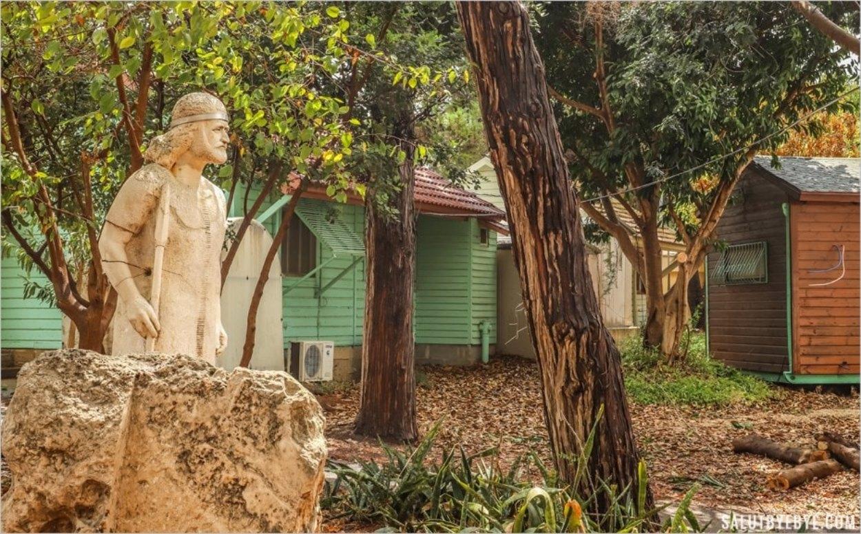 Le Jardin des Sculptures dans le kibboutz