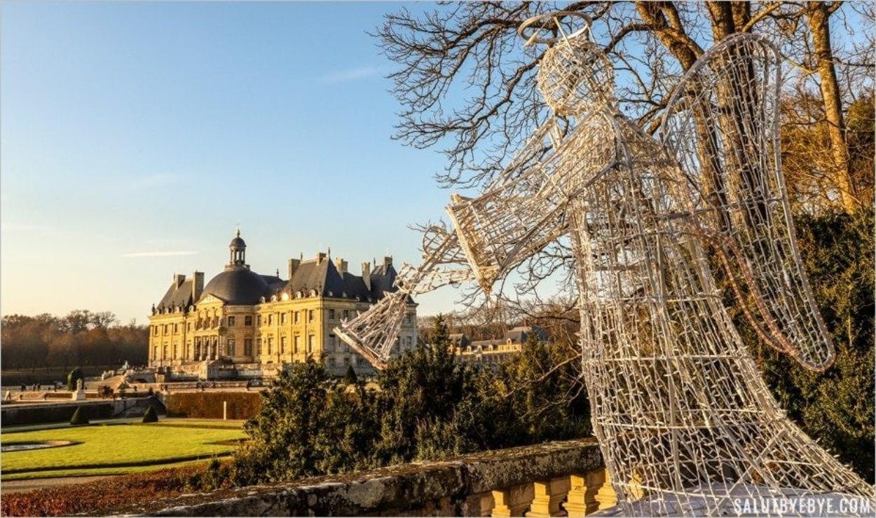 L'ange de Vaux-le-Vicomte à Noël