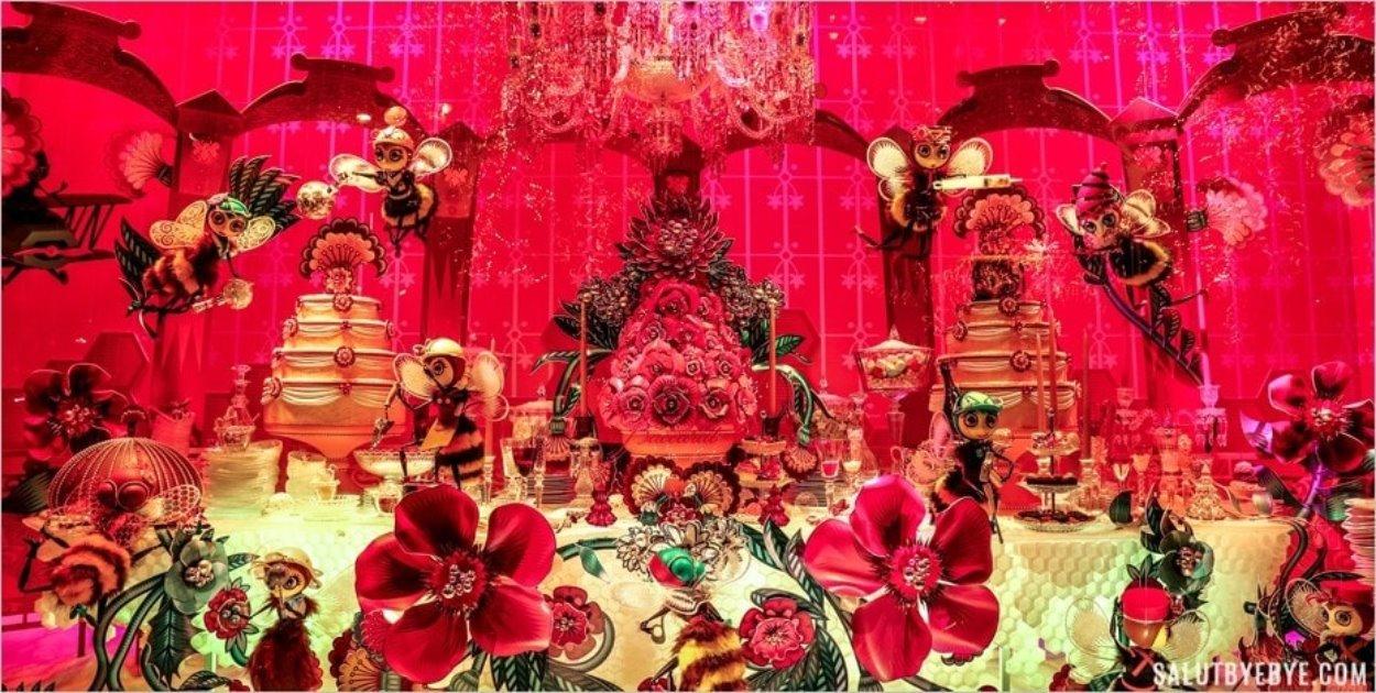 Table de réveillon aux Galeries Lafayette
