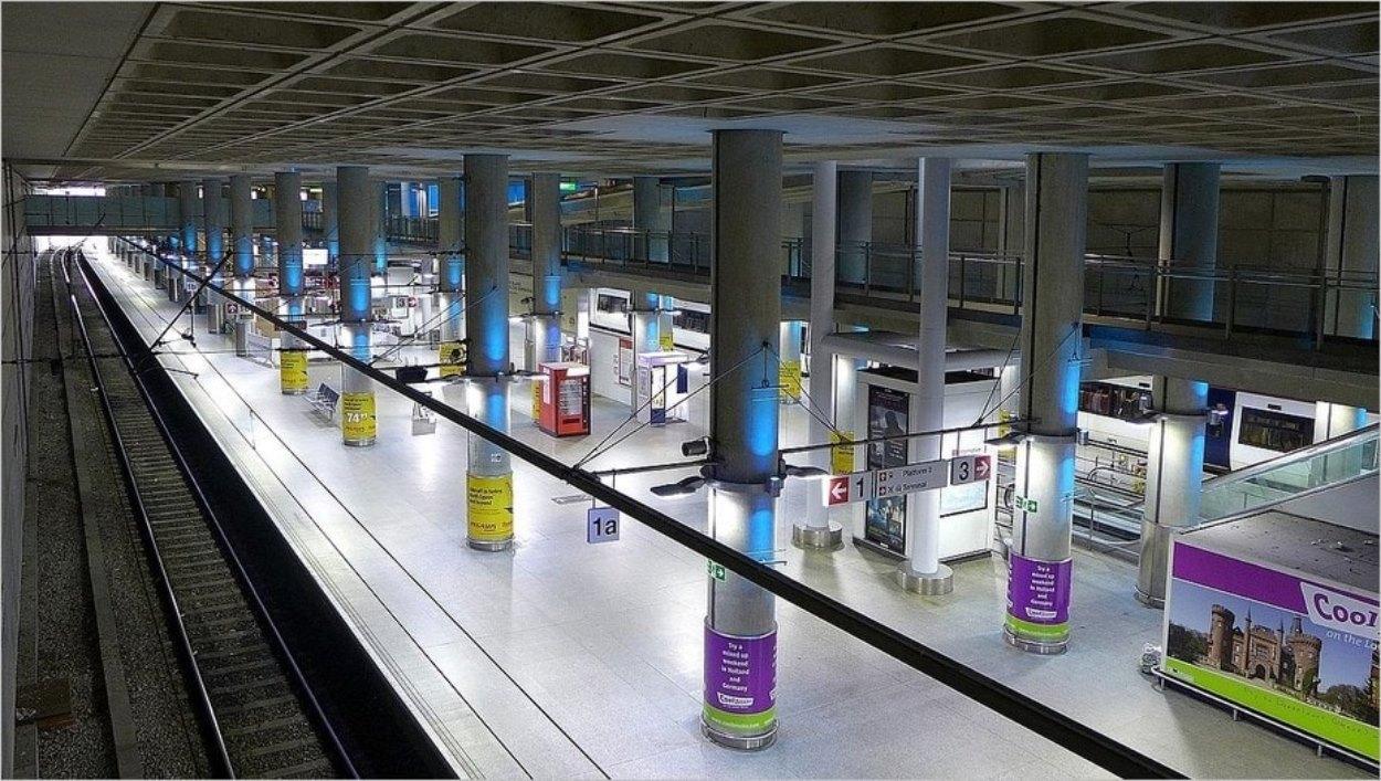Gare de Stansted dans l'aéroport