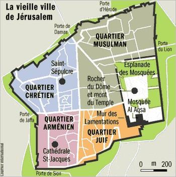 Les quartiers de la vieille ville de Jérusalem