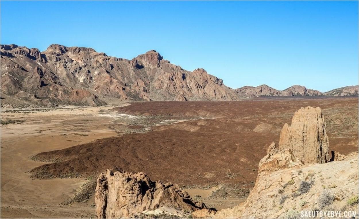 Les coulées de lave du parc national du Teide