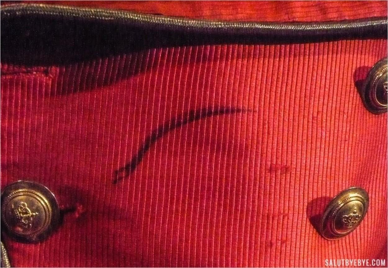 Coup de feutre sur la veste de Michael Jackson
