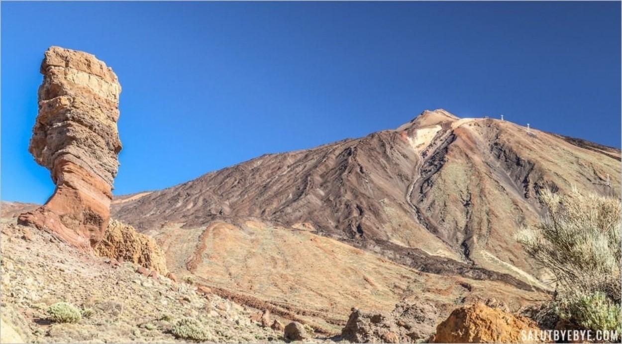 Le Roque Cinchado et le volcan Teide