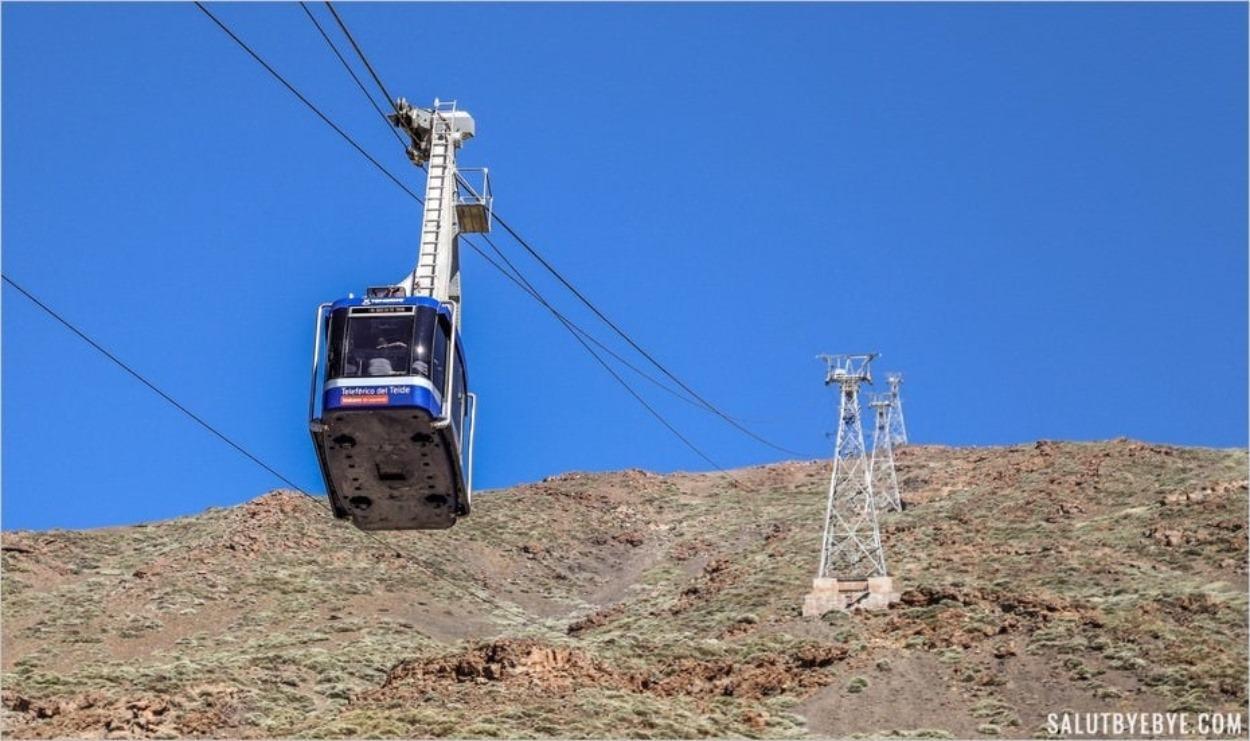 Le téléphérique du Teide dans les Canaries
