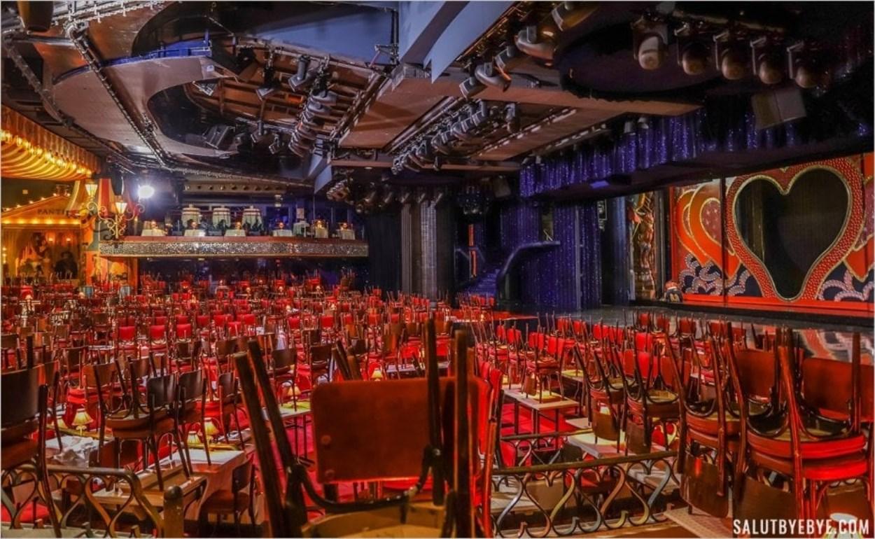Visite du Moulin Rouge - La salle encore vide