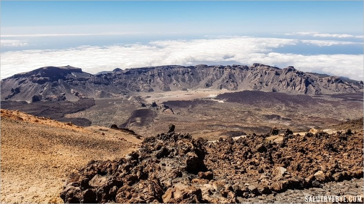 Vue depuis le volcan Teide