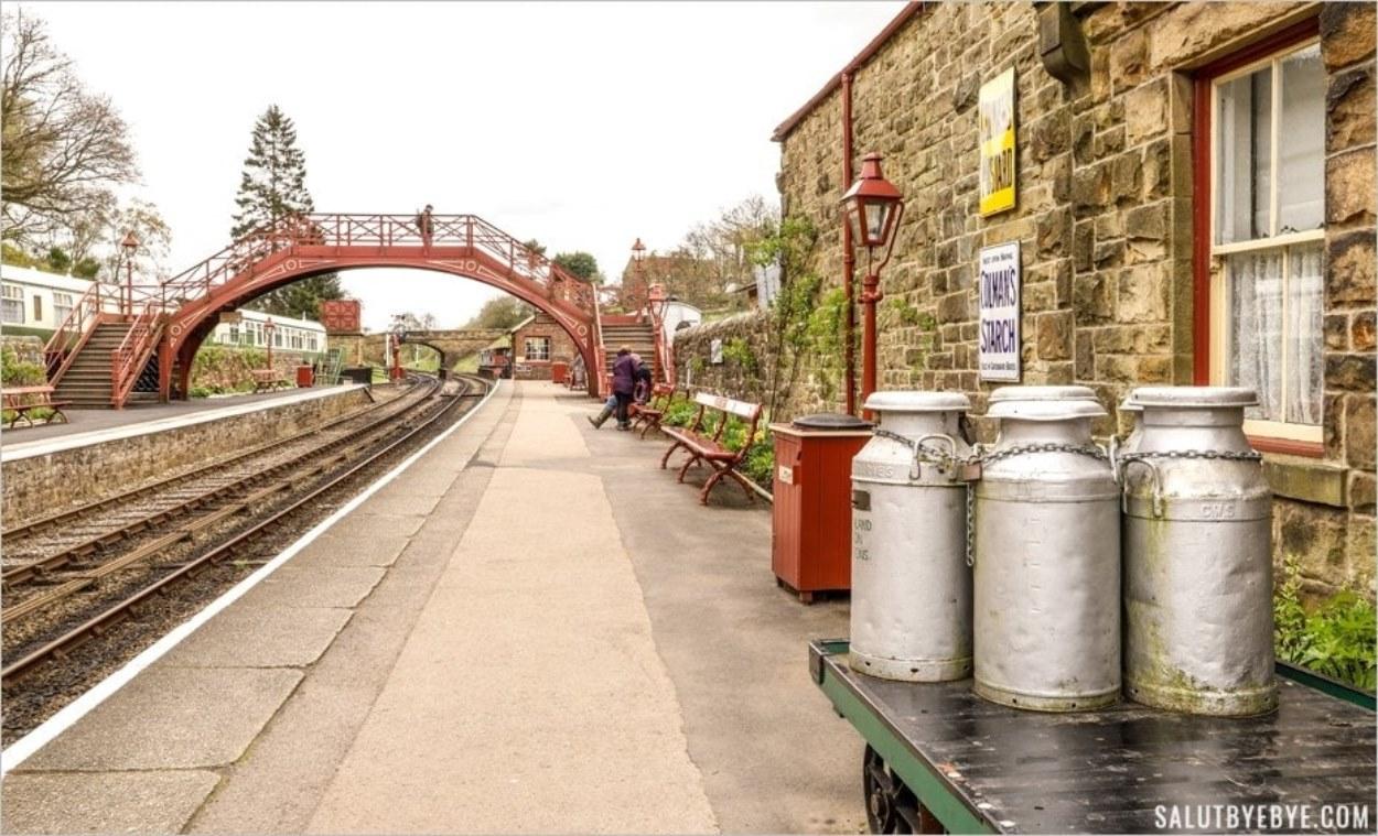 La gare de Goathland en Angleterre