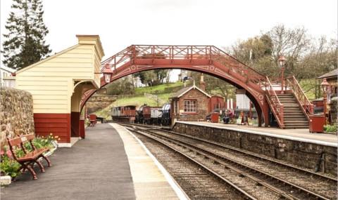 La gare de Goathland, lieu de tournage d'Harry Potter
