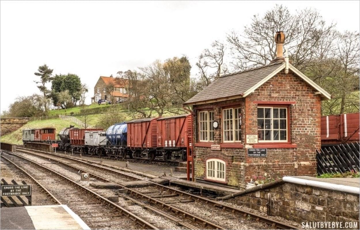 Gare de Goathland dans le Yorkshire