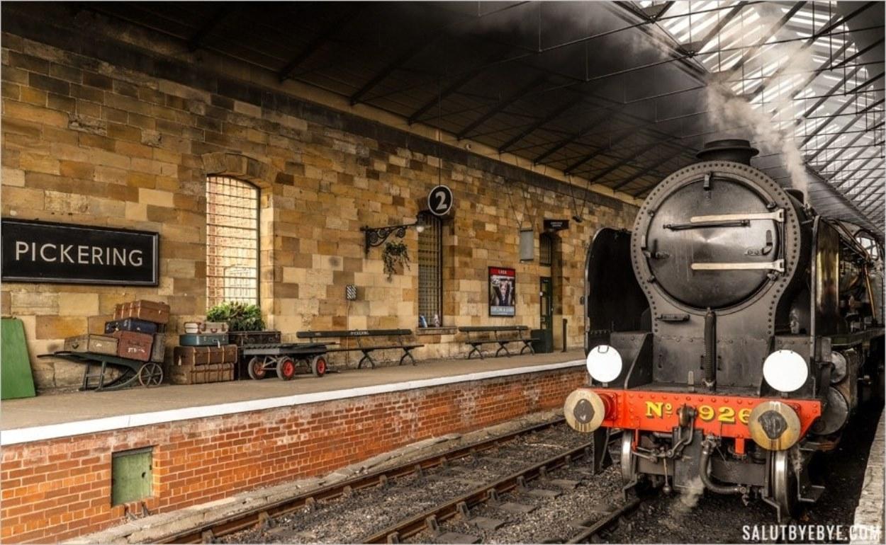 La gare de Pickering dans le Yorkshire