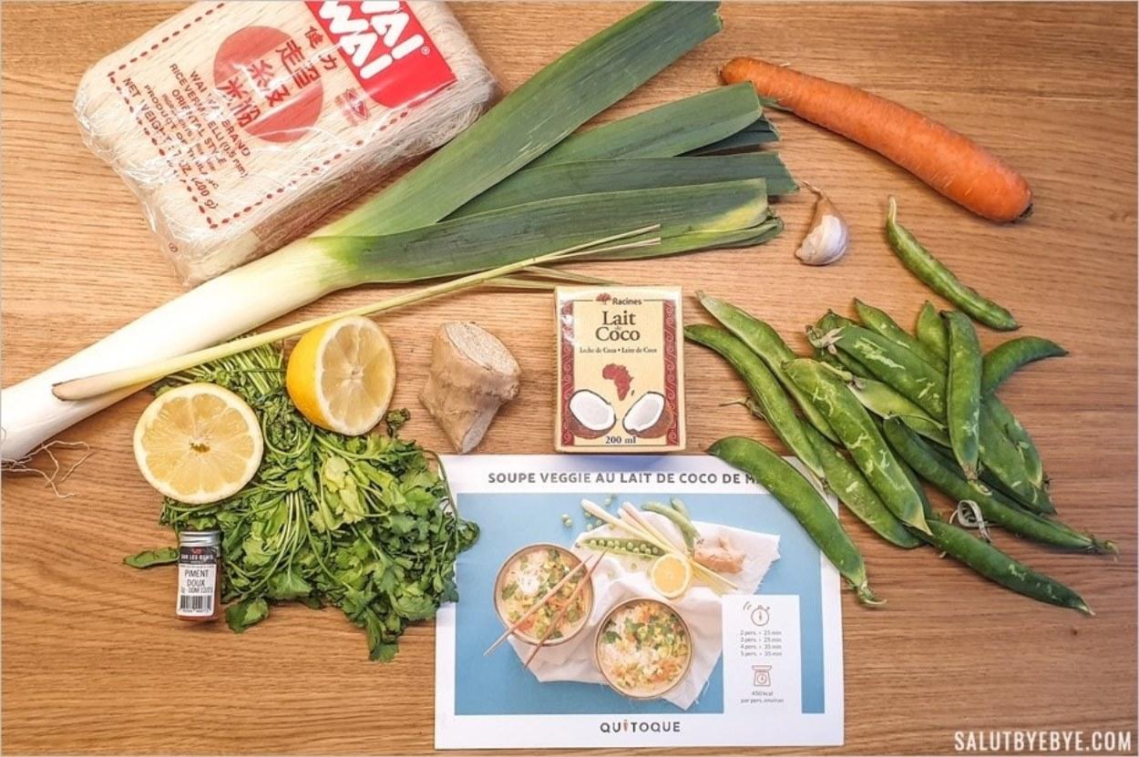 Ingrédients et fiche-recette de la soupe veggie
