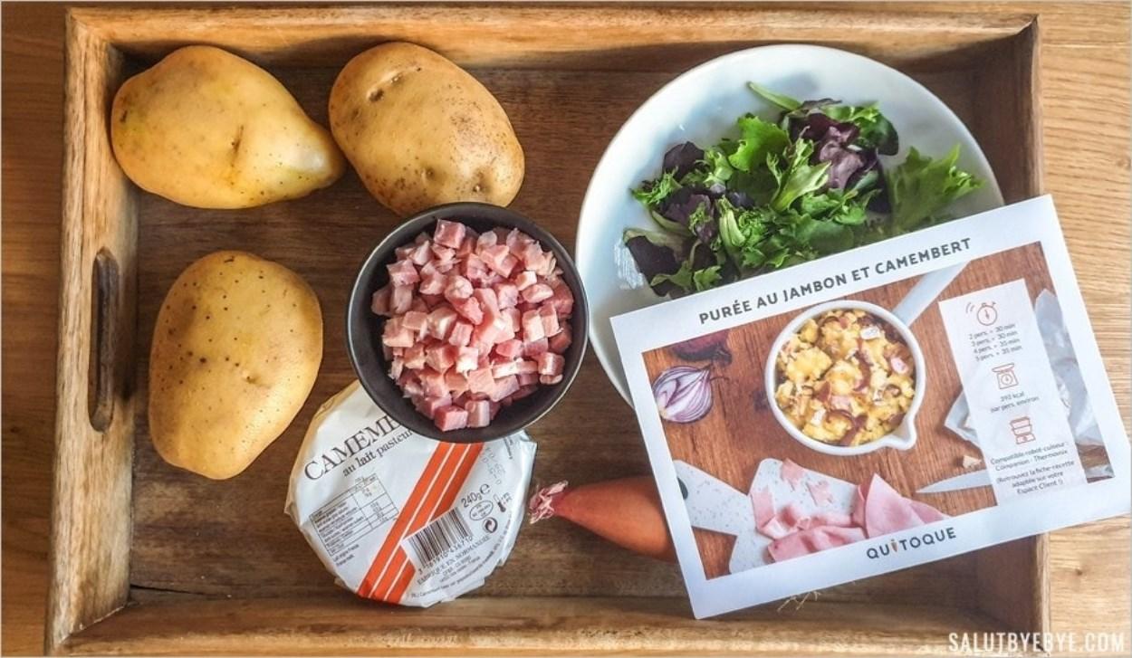 Purée au jambon et camembert : les ingrédients - Recette Quitoque