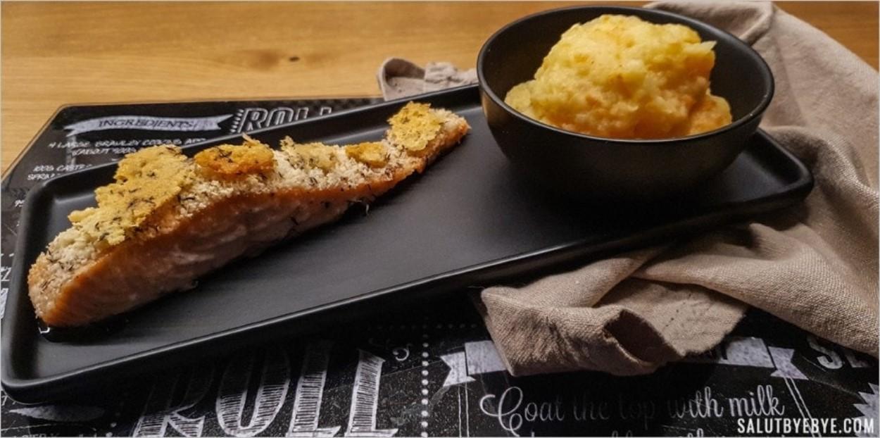 Pavé de saumon frais et sa croûte de parmesan