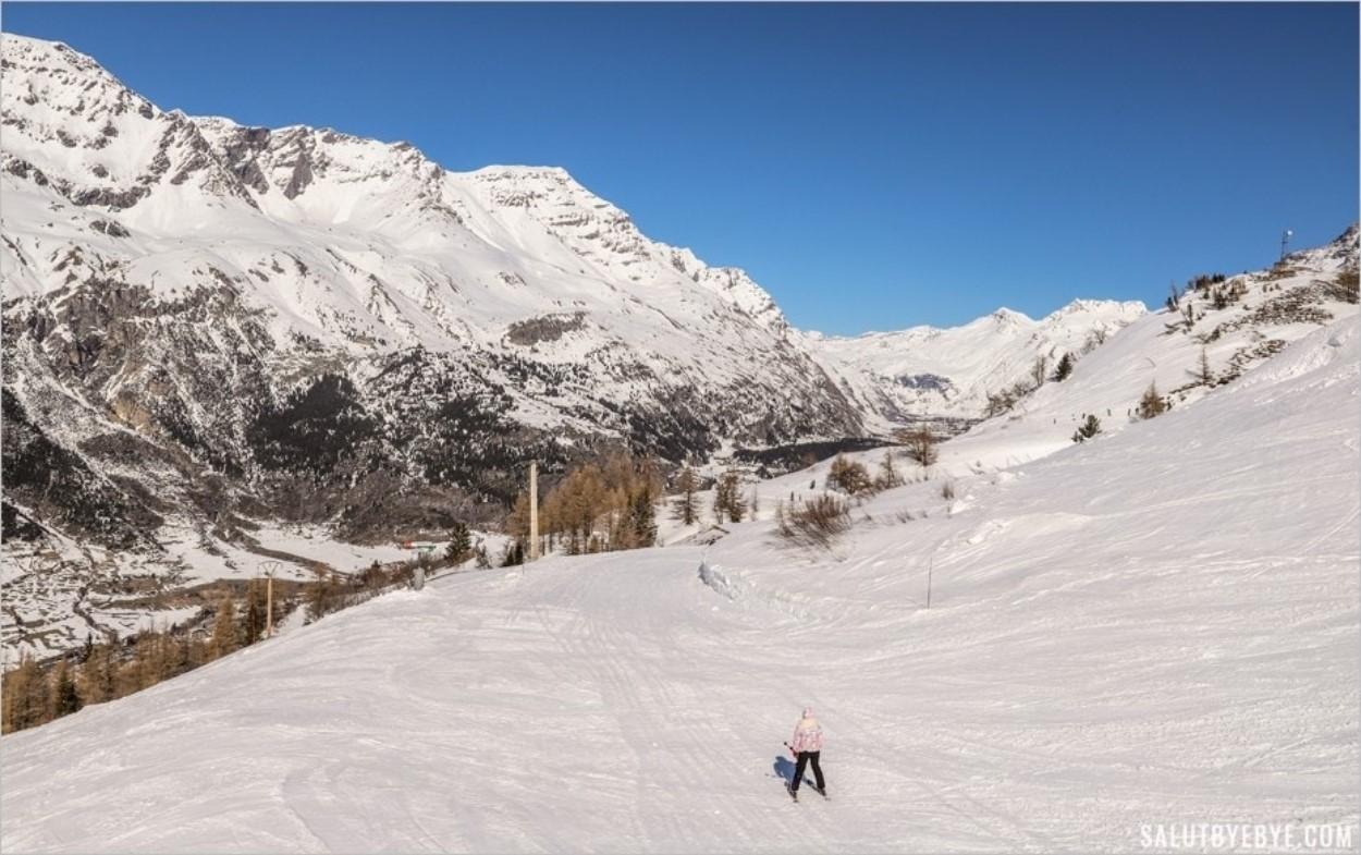 Se remettre au ski à l'âge adulte : une piste verte à Val Cenis