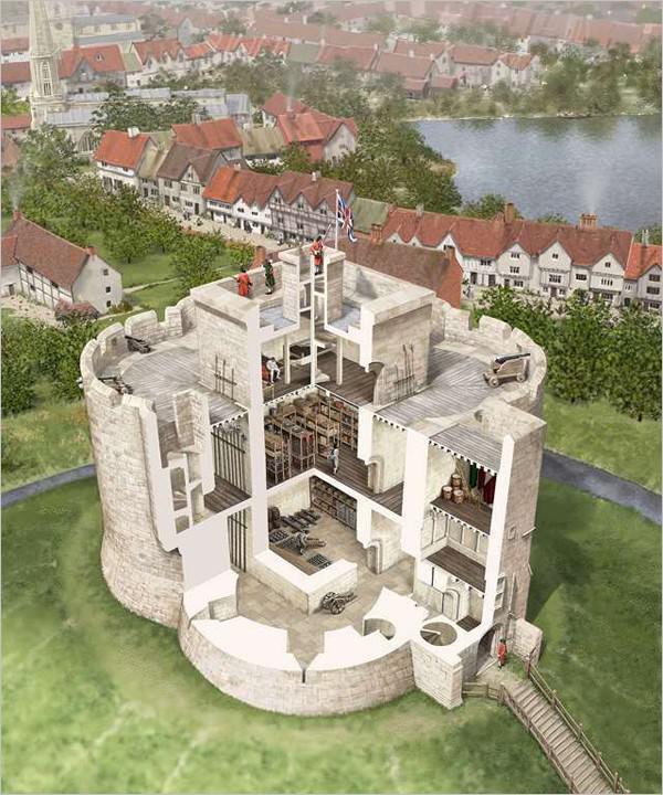Aménagement de la tour autour de 1680