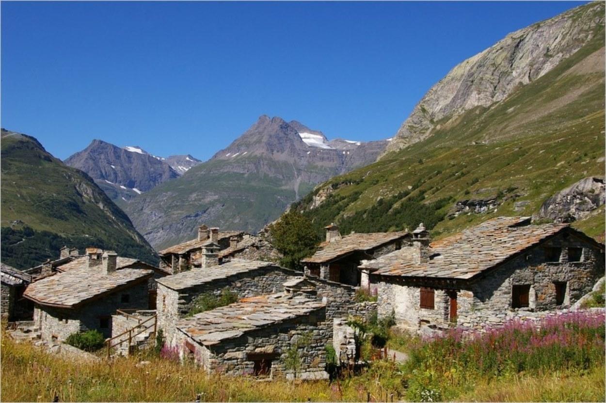 Le hameau de l'Ecot à Bonneval-sur-Arc