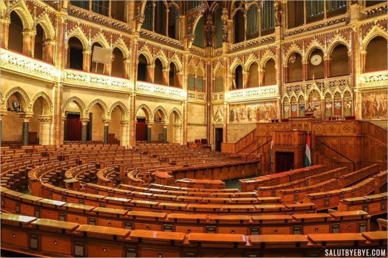 Hémicycle du Parlement de Hongrie