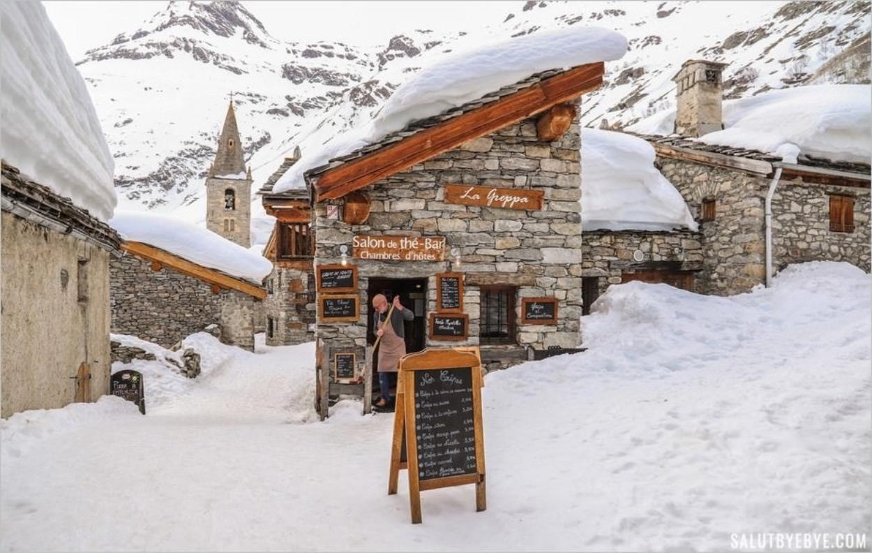 La Greppa à Bonneval-sur-Arc en hiver