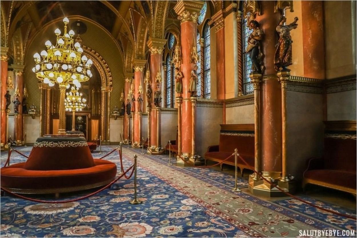 Salle de presse du Parlement de Hongrie