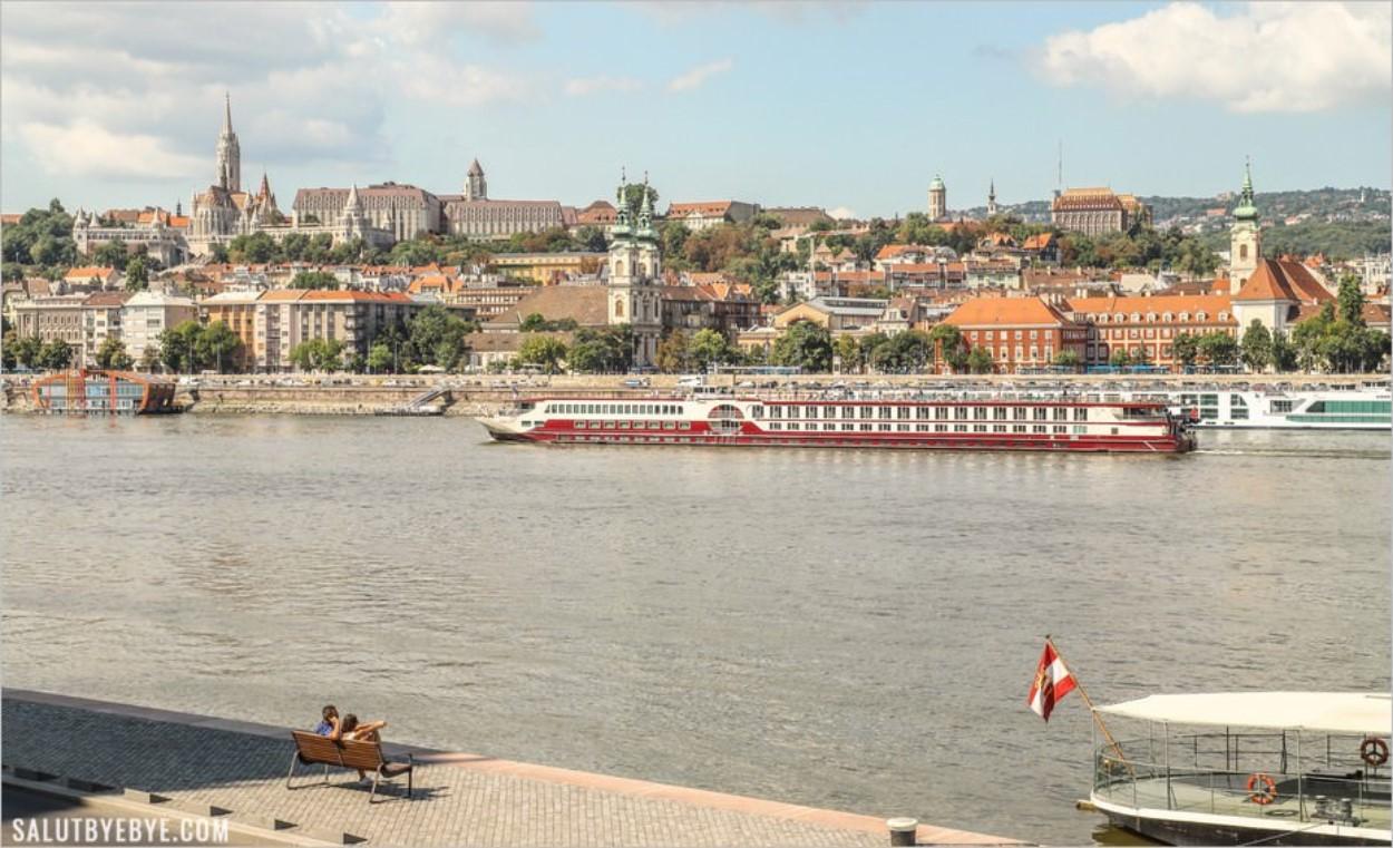 Le Parlement, une vue sur le Danube