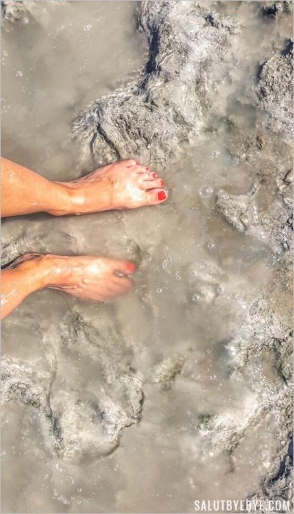 La boue de la Mer Morte