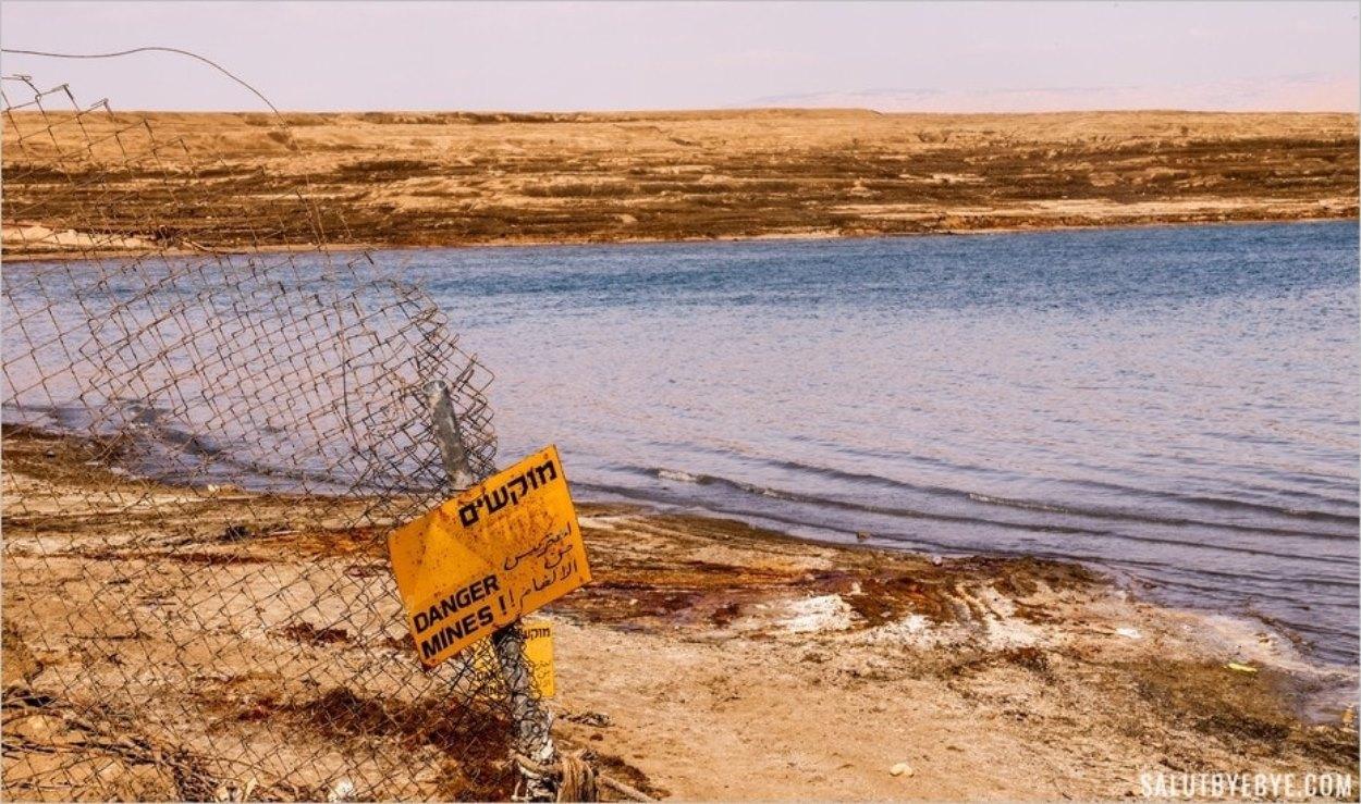 Zone de mines en Israël