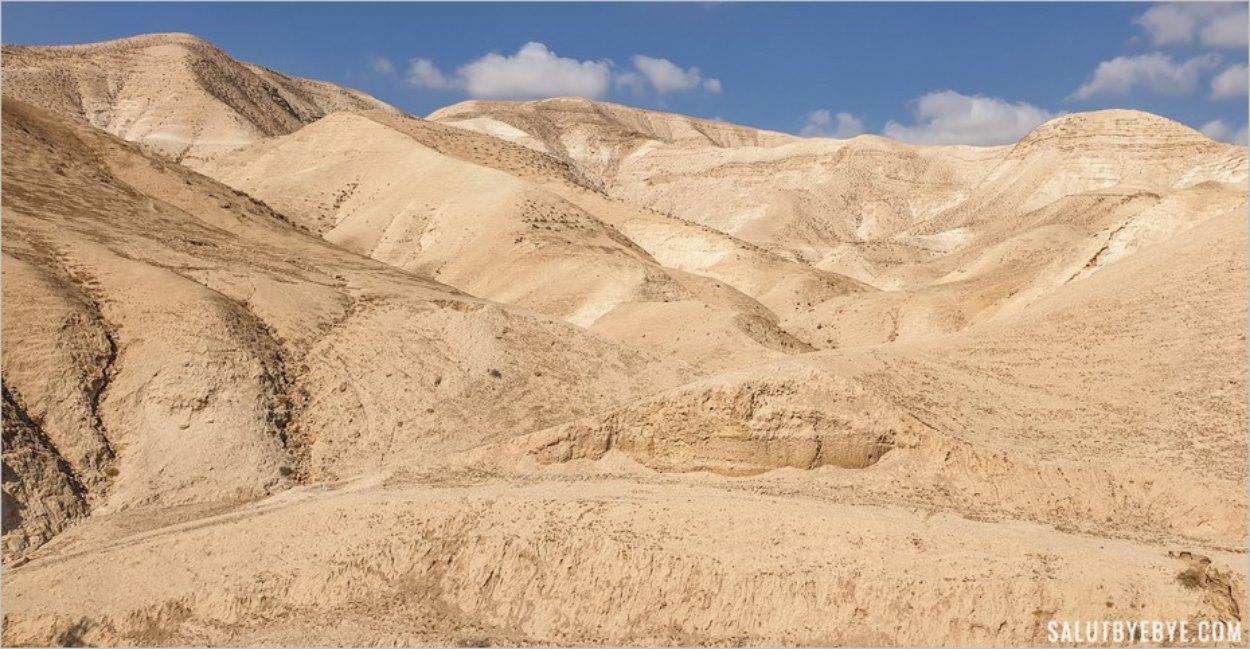 Sur la route entre Jérusalem et la Mer Morte