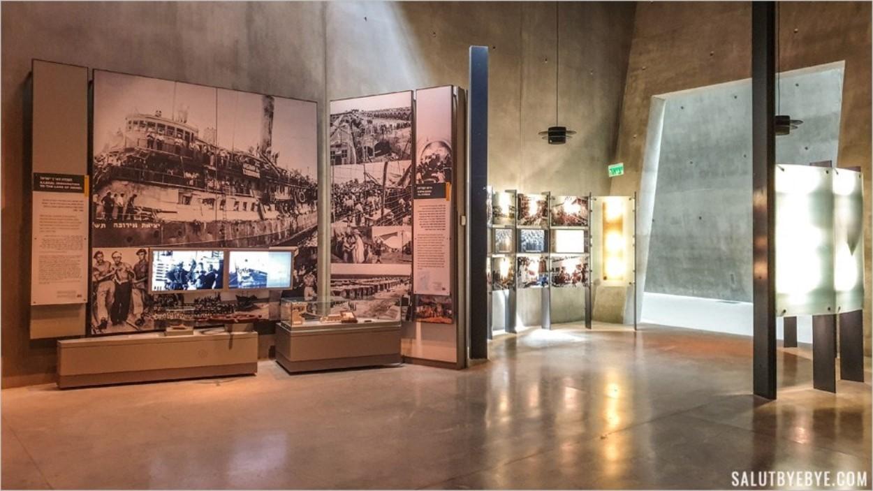 La scénographie du musée sur l'holocauste