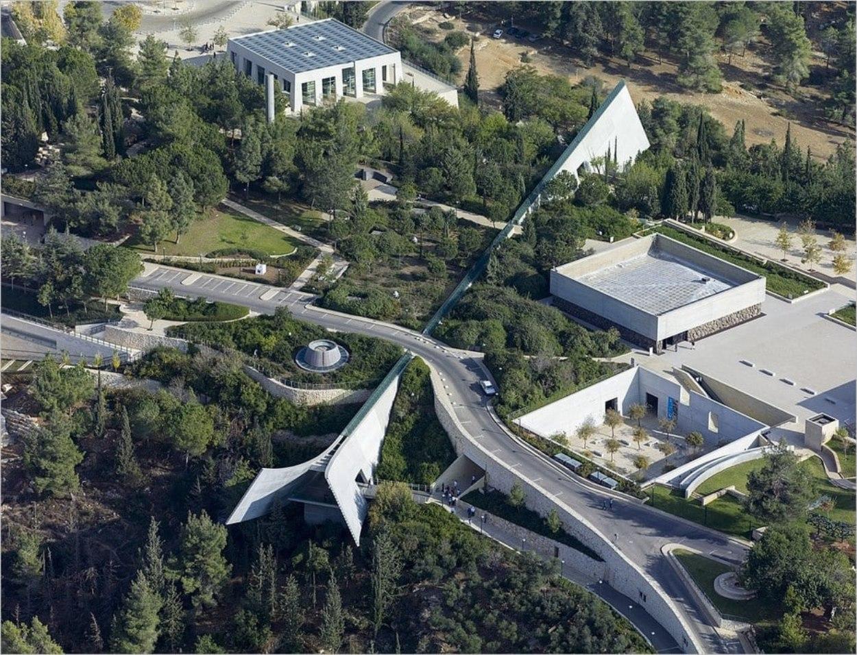 Vue aérienne de Yad Vashem