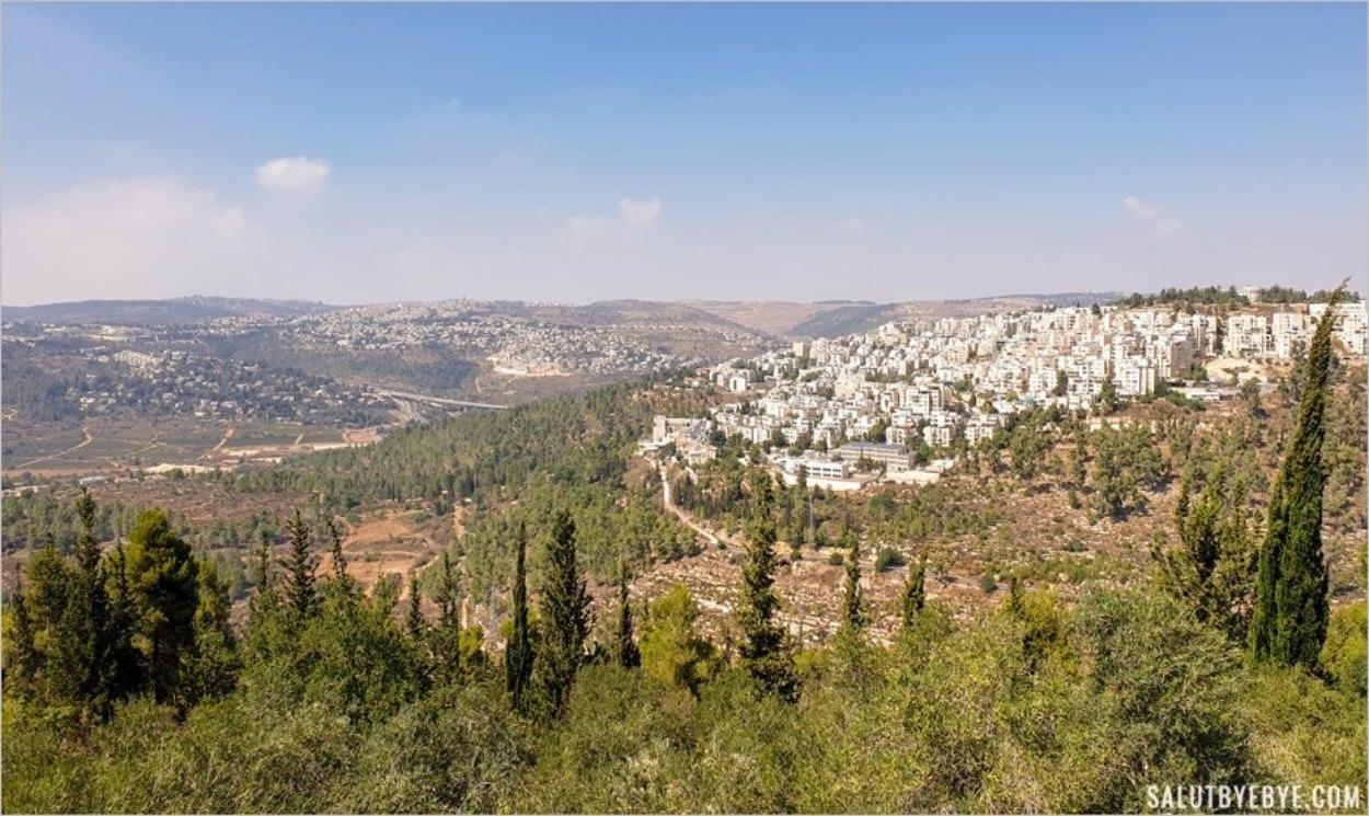Vue sur la Jérusalem moderne depuis Yad Vashem