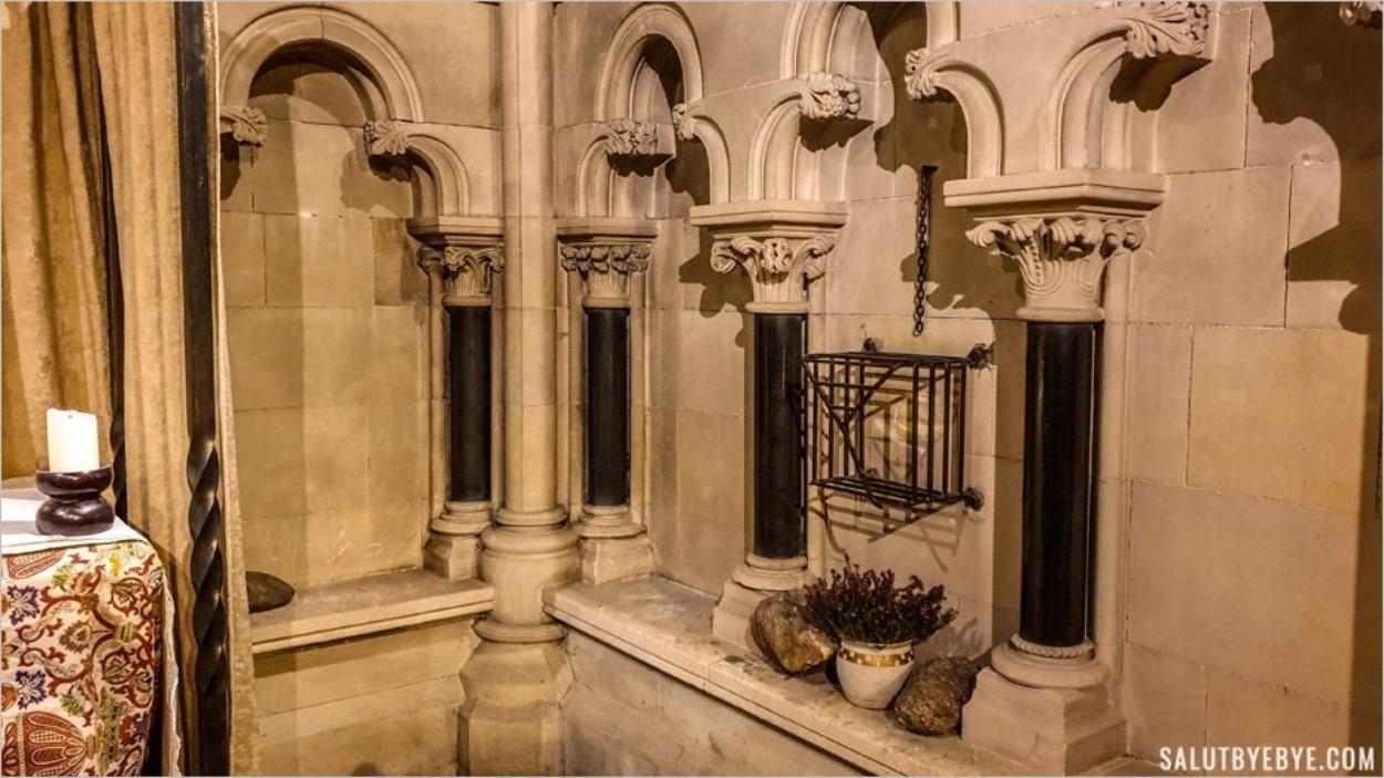 La cage en fer qui abritait la relique de Saint Laurence O'Toole