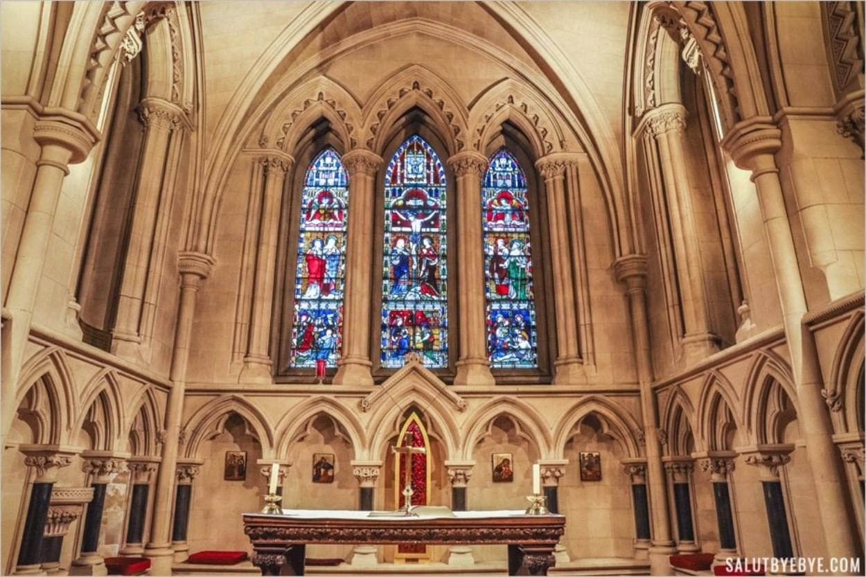 La chapelle Sancta Maria Alba, à l'intérieur de la cathédrale de Dublin