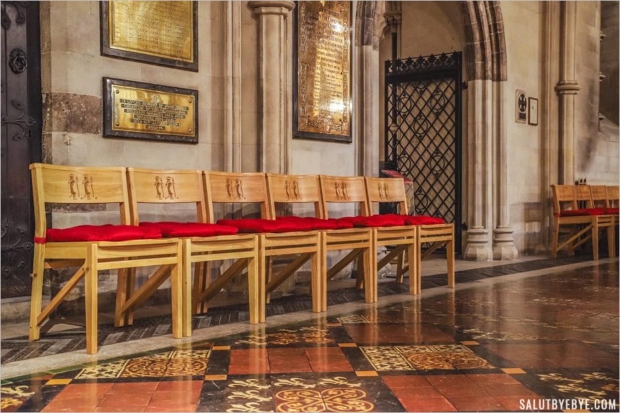 Intérieur de Christ Church et carrelage