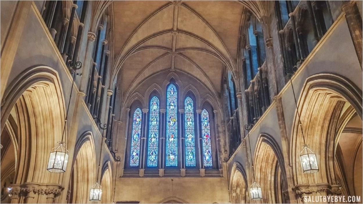 Intérieur de la cathédrale de Christ Church à Dublin, Irlande