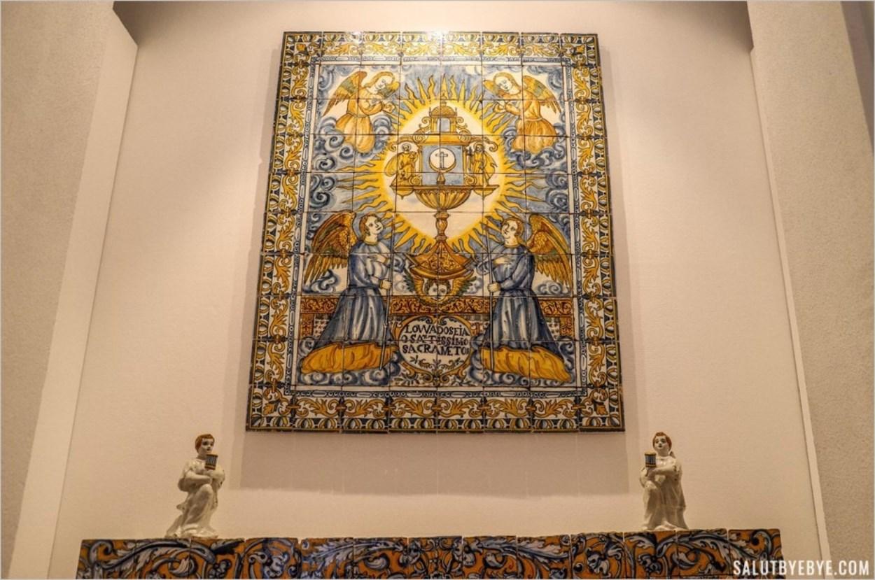Représentation religieuse en carreaux de faïence, Lisbonne